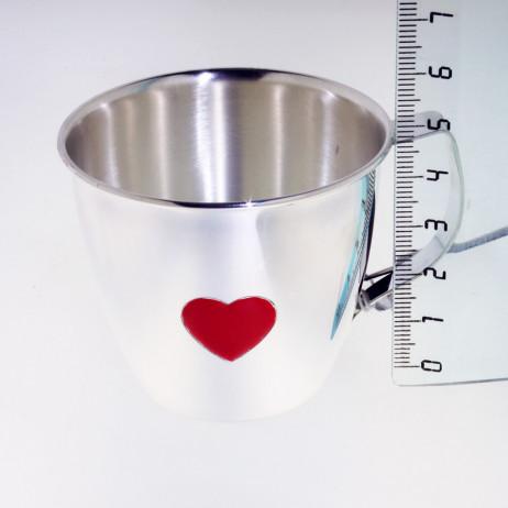 Детская серебряная кружка Сердце