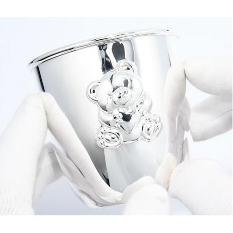 Стакан серебряный Мишутка
