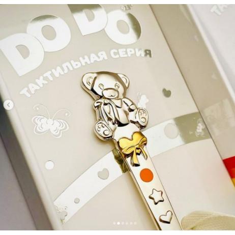 """Серебряная ложка DO DO """"Мишка с бантом"""""""