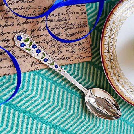 Ложка серебряная чайная Василек