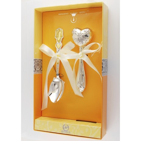 Детский набор серебра Ангел и сердце