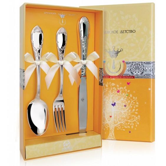 Серебряный набор Престиж ложка, вилка, нож