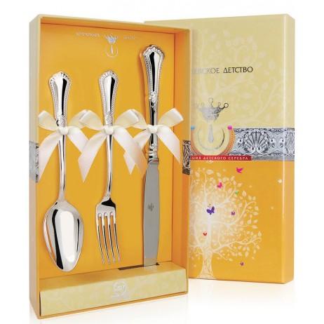 Серебряный набор Фаворит ложка, вилка, нож