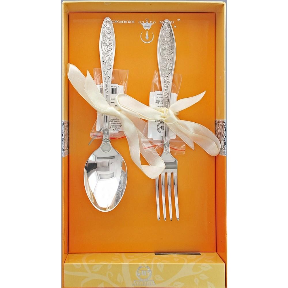 Серебряный набор Морозко ложка и вилка