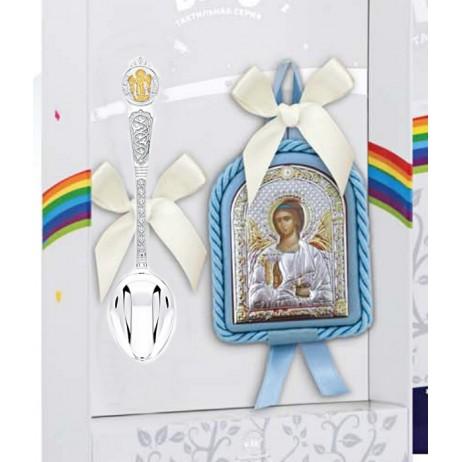 Крестильный набор Ангел-Хранитель голубой