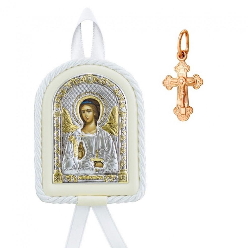 Набор на крестины девочке с крестиком