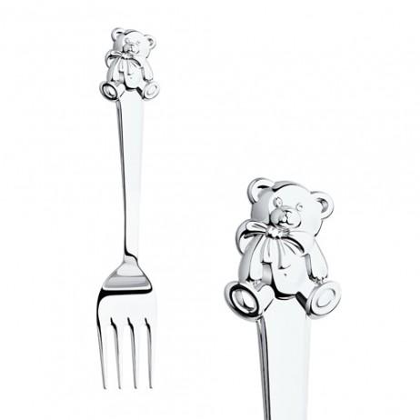 Детский набор Мишутка из серебра sokolov