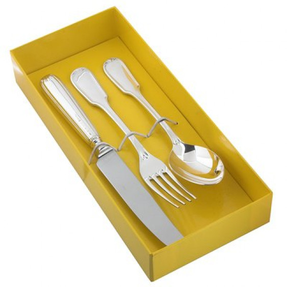 Детский набор с ложкой, вилкой, ножом Модерн юниор