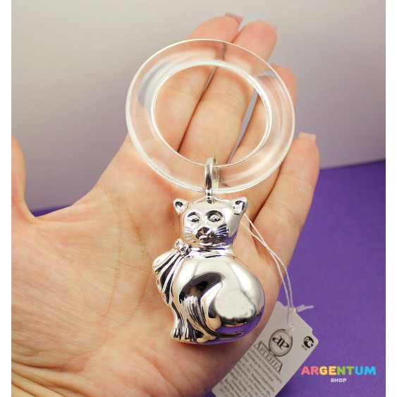 Детская погремушка Кошечка на кольце