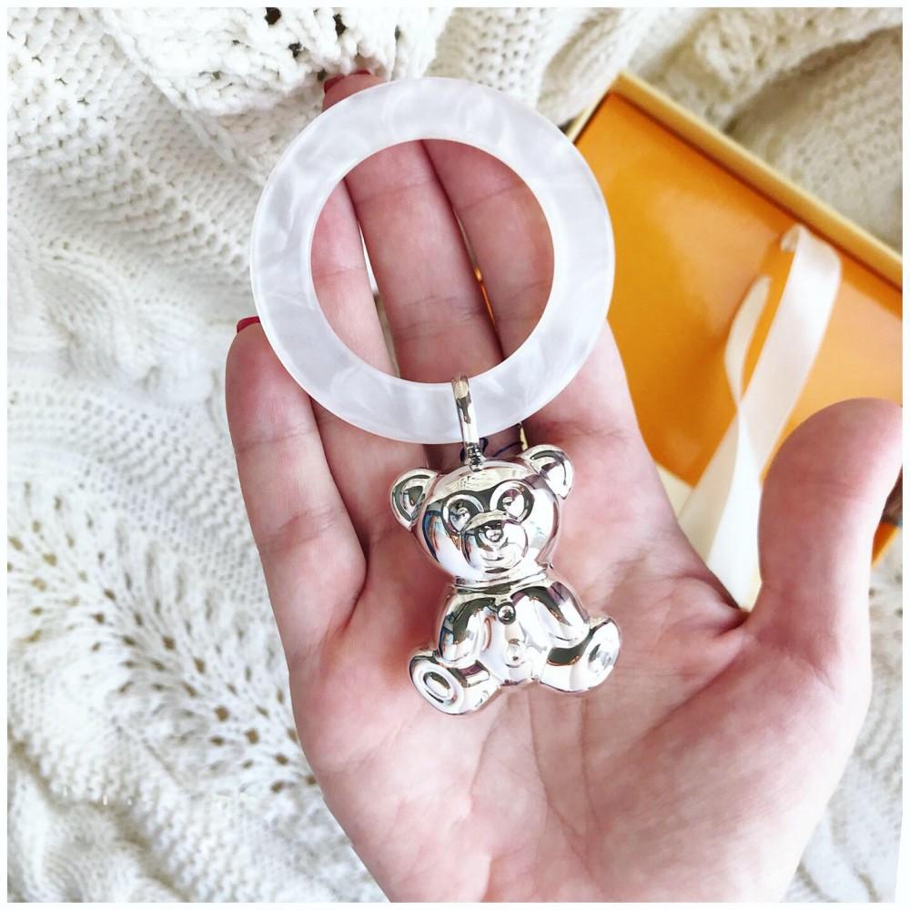 Детская погремушка Мишка на кольце